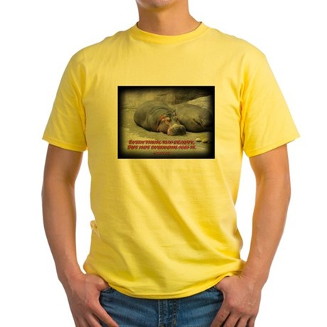 Hippos are beautiful! Yellow T-Shirt