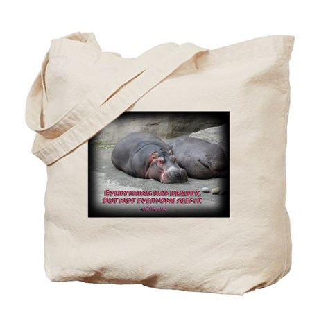 Hippos are beautiful! Tote Bag