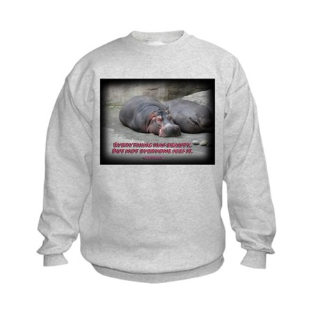 Hippos are beautiful! Kids Sweatshirt