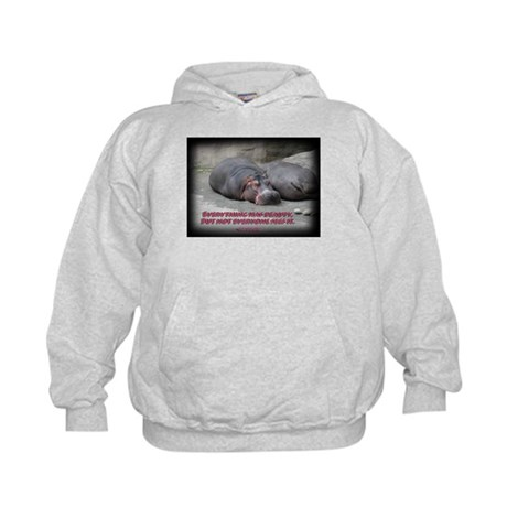 Hippos are beautiful! Kids Hoodie