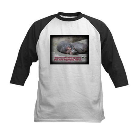Hippos are beautiful! Kids Baseball Jersey