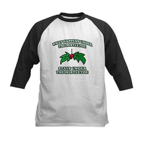 What Happens Under Mistletoe Kids Baseball Jersey