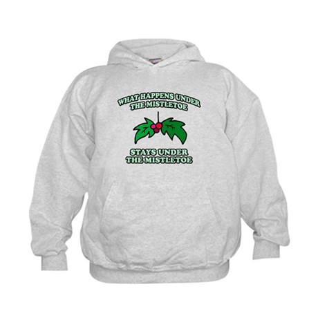 What Happens Under Mistletoe Kids Hoodie