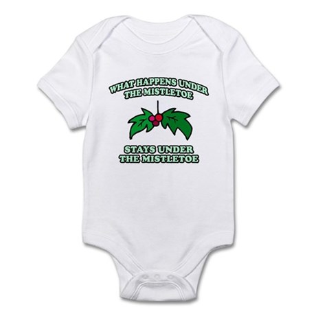 What Happens Under Mistletoe Infant Bodysuit