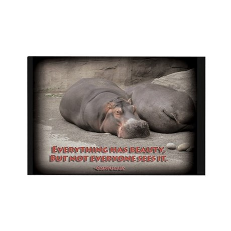 Hippos are beautiful! Rectangle Magnet (10 pack)