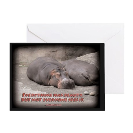 Hippos are beautiful! Greeting Card