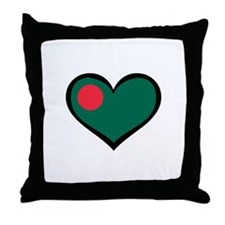 Bangladesh Love Throw Pillow