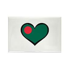 Bangladesh Love Rectangle Magnet