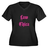 Law Chica Women's Plus Size V-Neck Dark T-Shirt