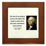 George Washington 5 Framed Tile