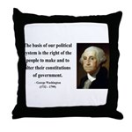 George Washington 5 Throw Pillow