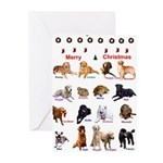 Canine Cancer heroes Greeting Cards (Pk of 10)