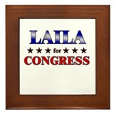LAILA for congress Framed Tile