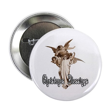 Christmas Blessings 2.25&quot; Button (10 pack)