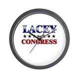 LACEY for congress Wall Clock