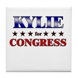 KYLIE for congress Tile Coaster