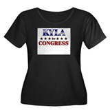 KYLA for congress Women's Plus Size Scoop Neck Dar