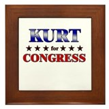 KURT for congress Framed Tile