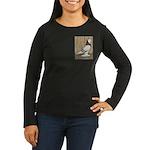 WOE Brown Bar Bald Women's Long Sleeve Dark T-Shir