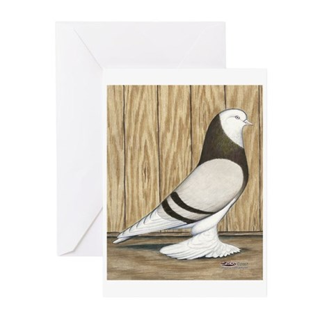WOE Brown Bar Bald Greeting Cards (Pk of 10)