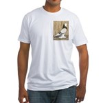 WOE Brown Bar Bald Fitted T-Shirt