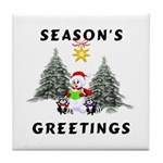 Christmas Greetings Tile Coaster