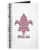 NOLA Girl Fleur de lis (pink) Journal
