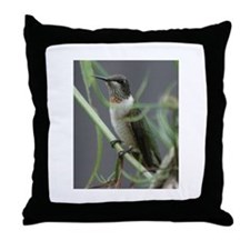 Throw Pillow Hummingbird
