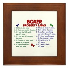 Boxer Property Laws 2 Framed Tile