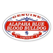 ALAPAHA BLUE BLOOD BULLDOG Oval Decal