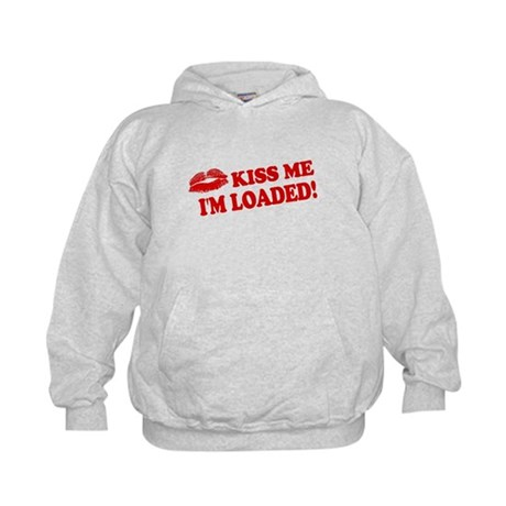 Kiss Me, I'm Loaded! Kids Hoodie