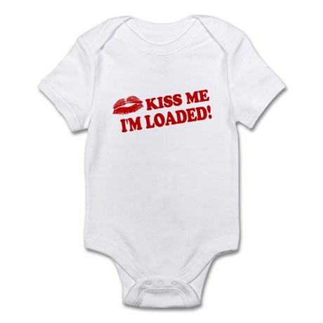 Kiss Me, I'm Loaded! Infant Bodysuit