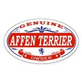 AFFEN TERRIER Oval Decal