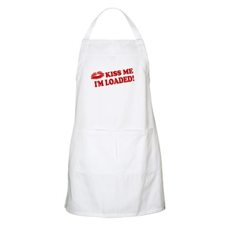 Kiss Me, I'm Loaded! BBQ Apron