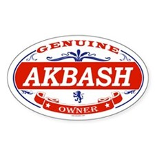 AKBASH Oval Decal