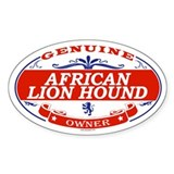 AFRICAN LION HOUND Oval Decal