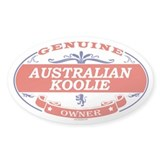 AUSTRALIAN KOOLIE Oval Decal