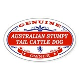 AUSTRALIAN STUMPY TAIL CATTLE DOG Oval Bumper Stickers