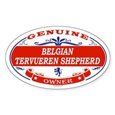 BELGIAN TERVUEREN SHEPHERD Oval Decal