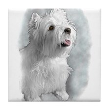 Westie Request Tile Coaster