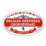 BELGIAN SHEPHERD GROENENDAEL Oval Decal