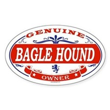 BAGLE HOUND Oval Decal