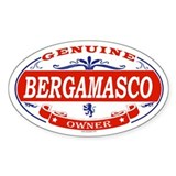 BERGAMASCO Oval Bumper Stickers