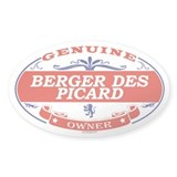 BERGER DES PICARD Oval Bumper Stickers