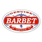 BARBET Oval Bumper Stickers