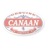 CANAAN Oval Bumper Stickers