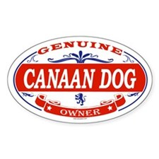 CANAAN DOG Oval Decal