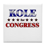 KOLE for congress Tile Coaster