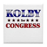 KOLBY for congress Tile Coaster
