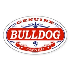 BULLDOG Oval Decal